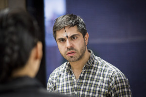 Satya Bhabha in rehearsal for DRUNKEN WITH WHAT. Photo by Gaia Squarci.