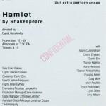 Hamlet November 18 - 21, 1993