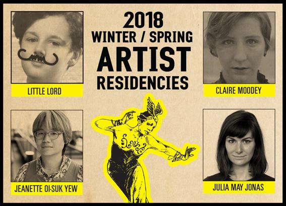 2018 Winter / Spring Artist Residencies